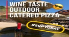 Wine Taste + Catered Pizza = Outdoor Fun