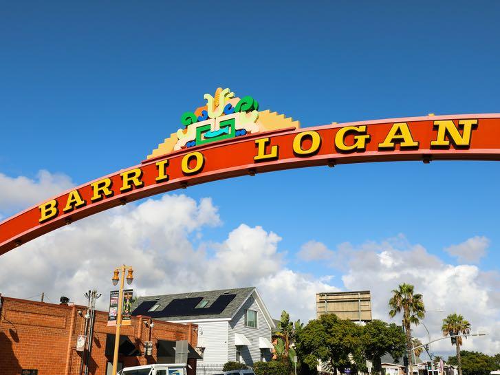 Barrio Logan Neighborhood Sign in San Diego