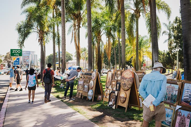 Balboa Park free art show
