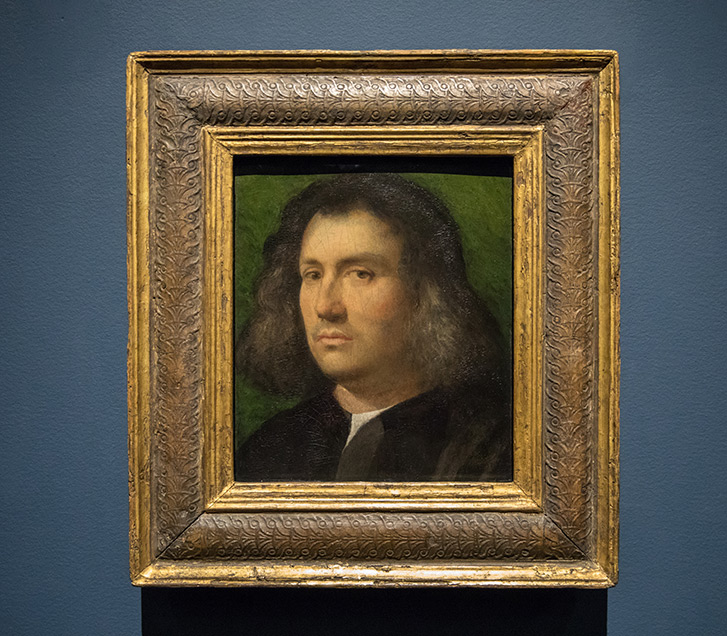 Giorgione (Giorgio de Castelfranco). Portrait of a Man ('Terris Portrait'), 1506. Oil on panel. Gift of Anne R. and Amy Putnam. 1941.100.