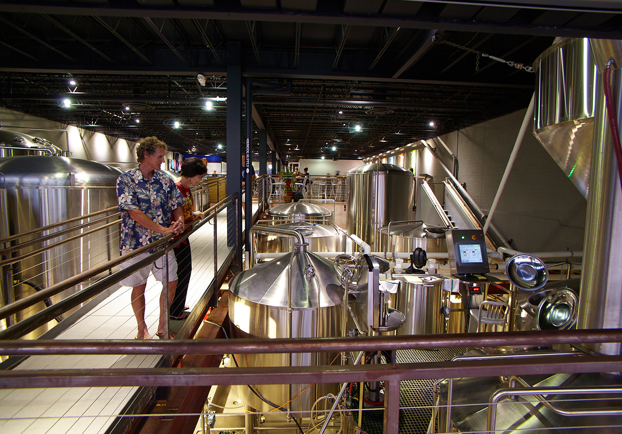 Couple on a brewery tour