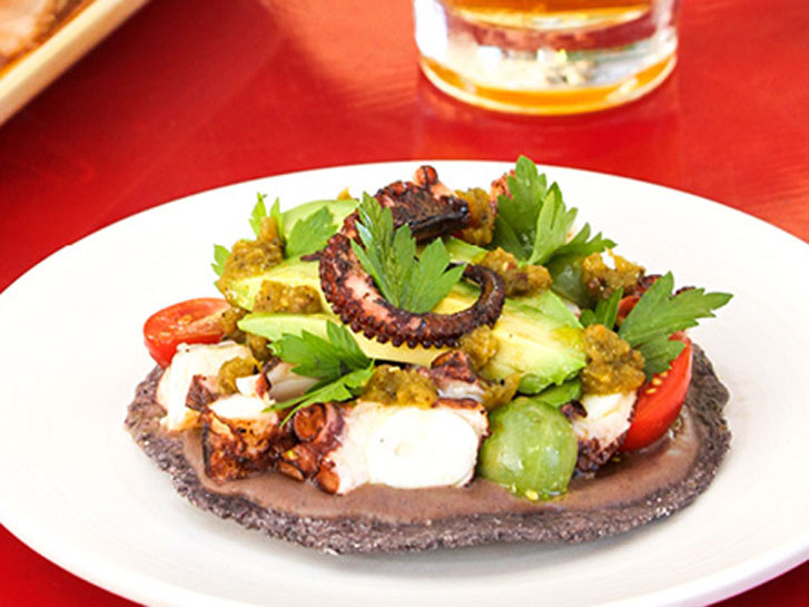 Grilled Octopus Tostada