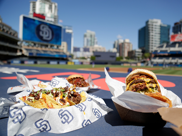Ball park food in San Diego CA