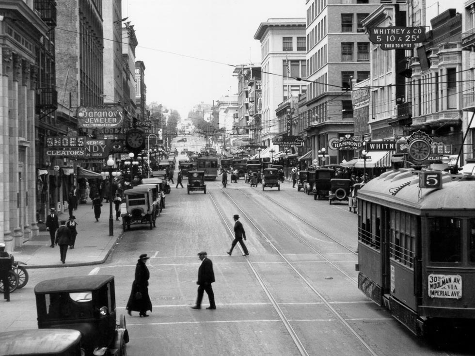 San Diego Downtown and Gaslamp Quarter Historical Photo