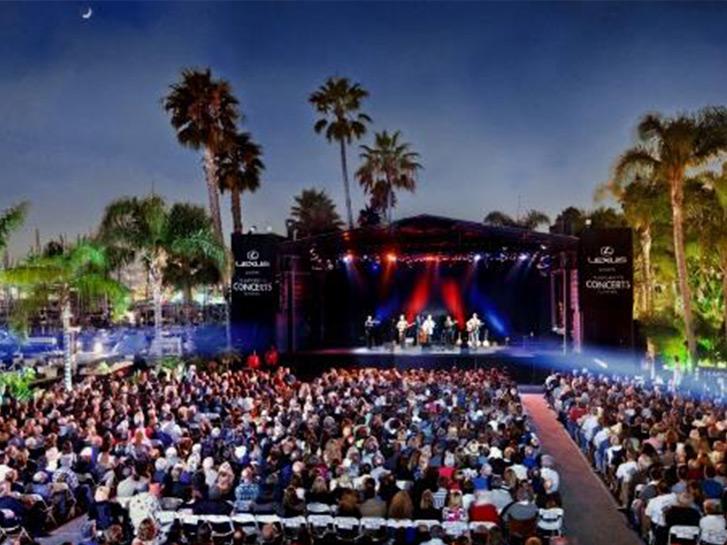 Outdoor concert at Humphrey's in San Diego CA