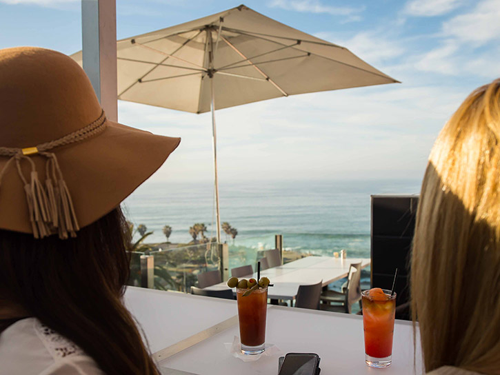 Dining with a view at George's at the Cove in LaJolla CA