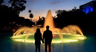 Couple in Balboa Park - San Diego's Best February Events and Things to Do