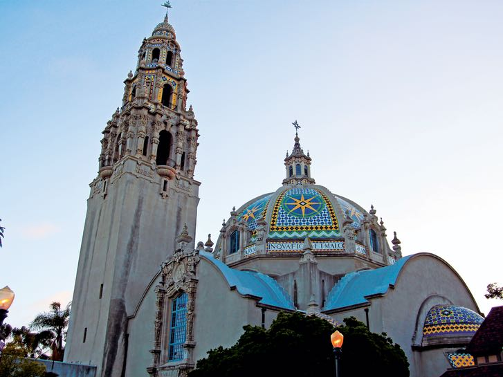 California Tower and Dome at the Museum of Us in Balboa Park