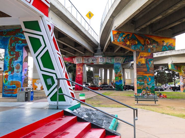 Murals at Chicano Park in Barrio Logan