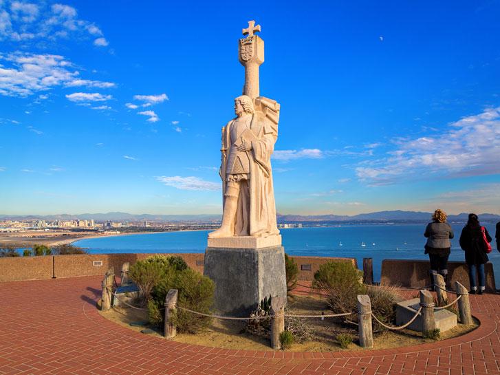 statue of cabrillo at cabrillo national monument