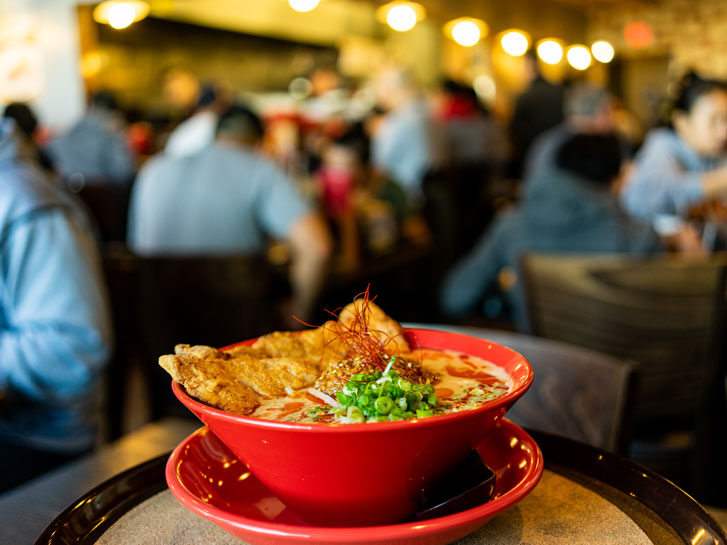 a bowl of food in a convoy restaurant