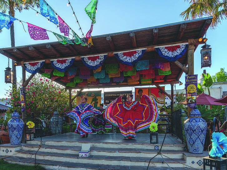 Folklorico dancers at Fiesta de Reyes in Old Town San Diego