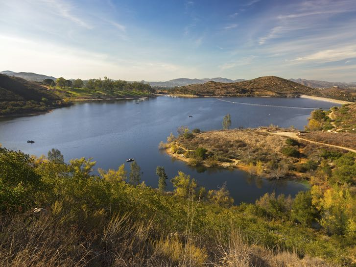 Lake Poway in North Inland San Diego