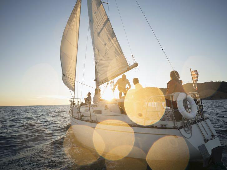 Family sailing on San Diego Bay
