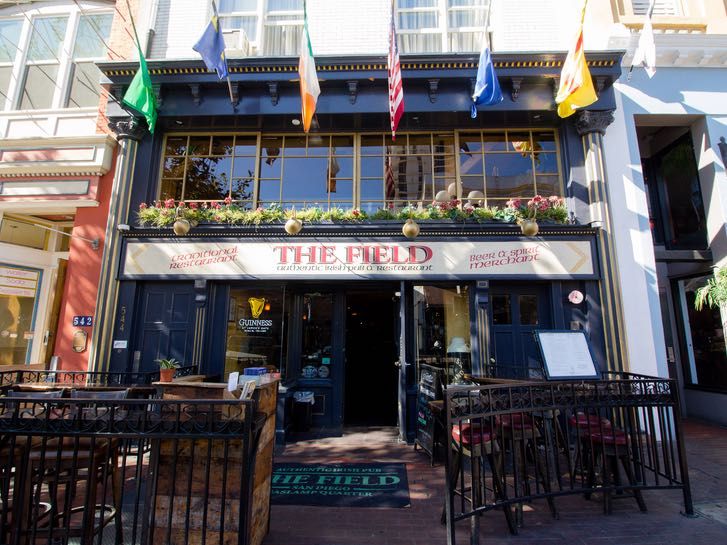 The Field patio in the Gaslamp Quarter
