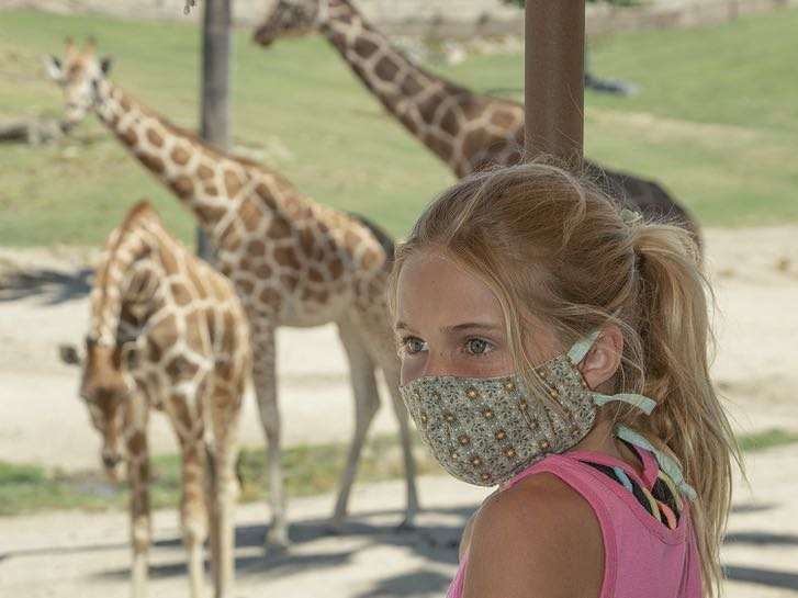 Young lady on a Wildlife Safari at the San Diego Zoo Safari Park