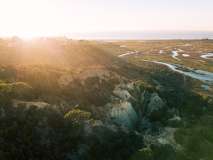 Aerial View Coastal San Diego County