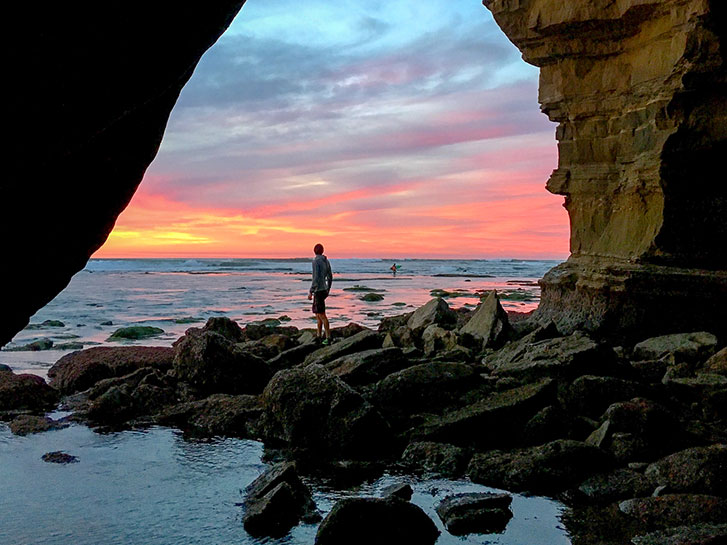 Sunset Cliffs San Diego CA Ocean Level