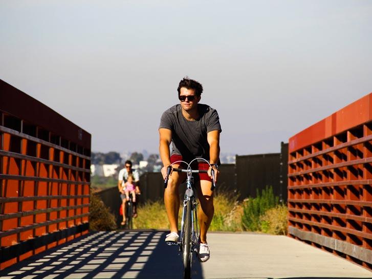 Bikeway Village along Bayshore Bikeway