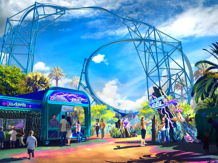 SeaWorld San Diego's Electric Eel Roller Coaster