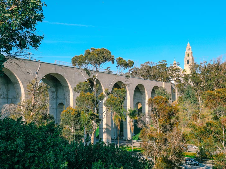 Cabrillo Bridge - San Diego's 7 Bridges Hike