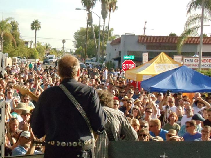 Live music at Adams Ave Street Fair in San Diego CA