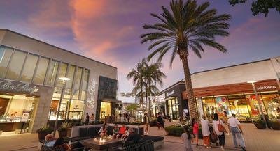 Shopping at Westfield UTC near La Jolla San Diego