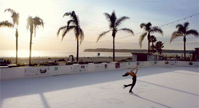 Beach Ice skater in San Diego