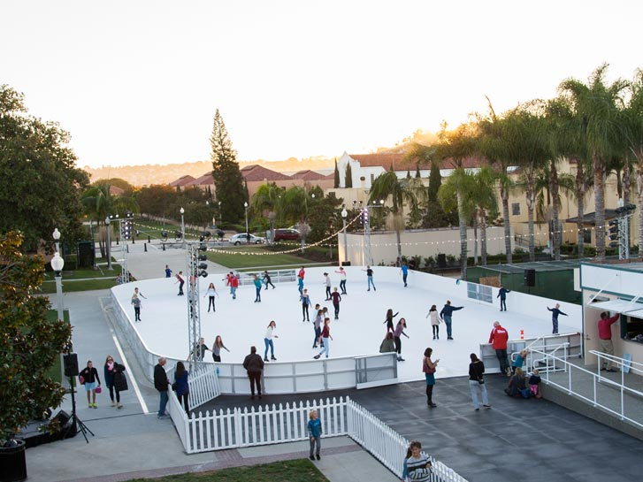 Outdoor Skating on Ice in San Diego, CA