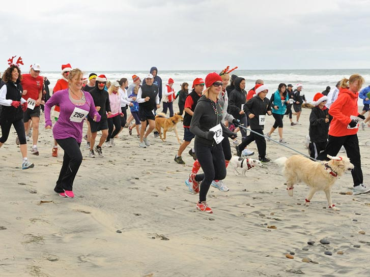 Red Nose Run on the beaches of San Diego CA