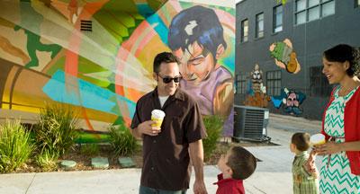 San Diego's Barrio Logan Mural & a Family