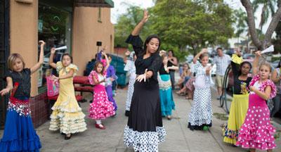 Dancers in the South Park neighborhood of San Diego CA