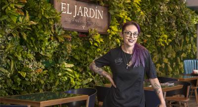Chef Claudette Zepeda-Wilkins of El Jardin