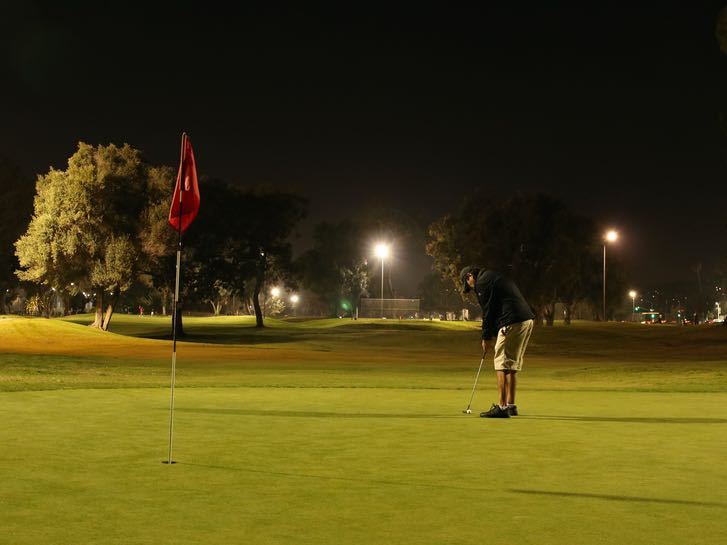 Mission Bay Golf Course at Night