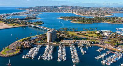 Aerial of Mission Bay San Diego
