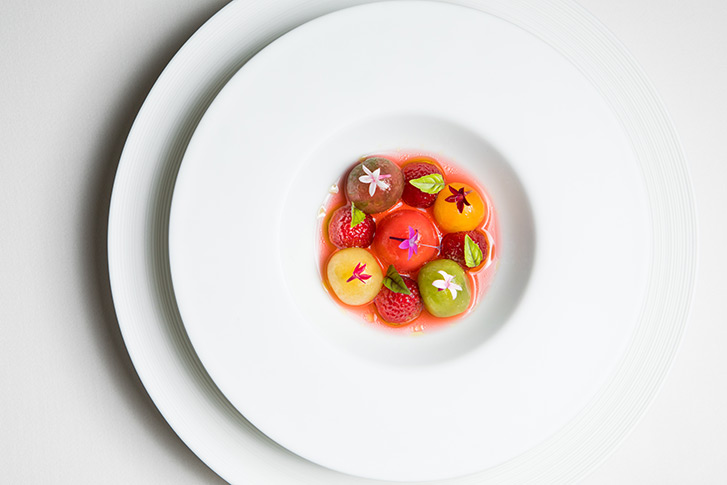 French-influenced cuisine crafted by Relais & Chateau Grand Chef William Bradley at Addison