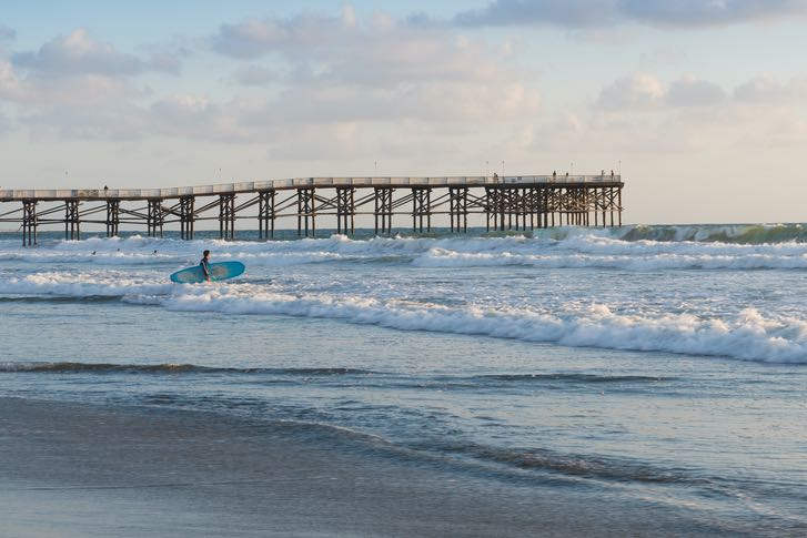 Crystal Pier in San Diego's Pacific Beach