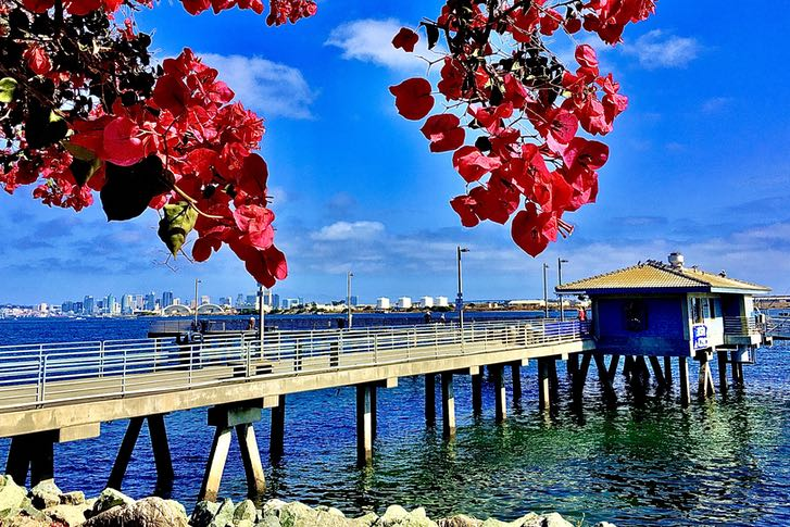 Shelter Island Pier in San Diego's Point Loma