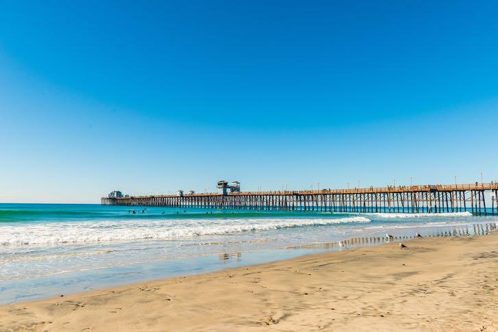 Oceanside Pier in San Diego County's North Coastal Area