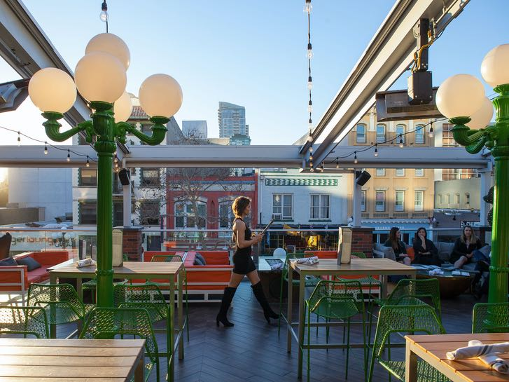 Rustic Root Rooftop Bar and Restaurant in the Gaslamp Quarter
