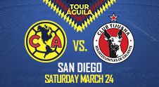 Club América will take on Club Tijuana (Xolos)
