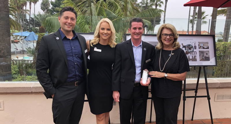 Site Experience Sales Person of the Quarter Dan Sadler Hilton San Diego Resort & Spa
