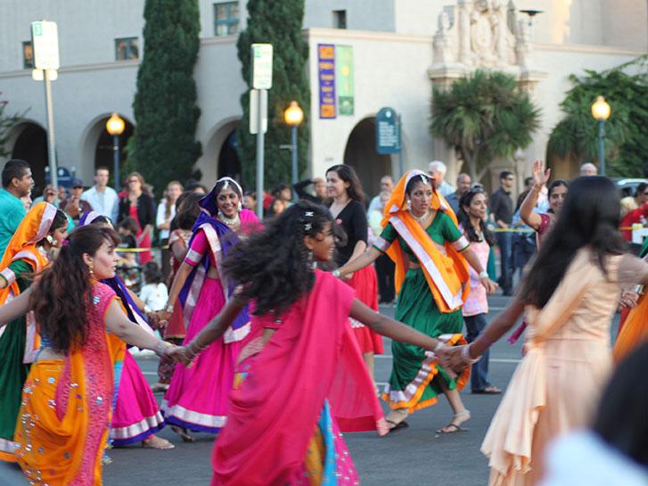 Diwali Dancing in Balboa Park