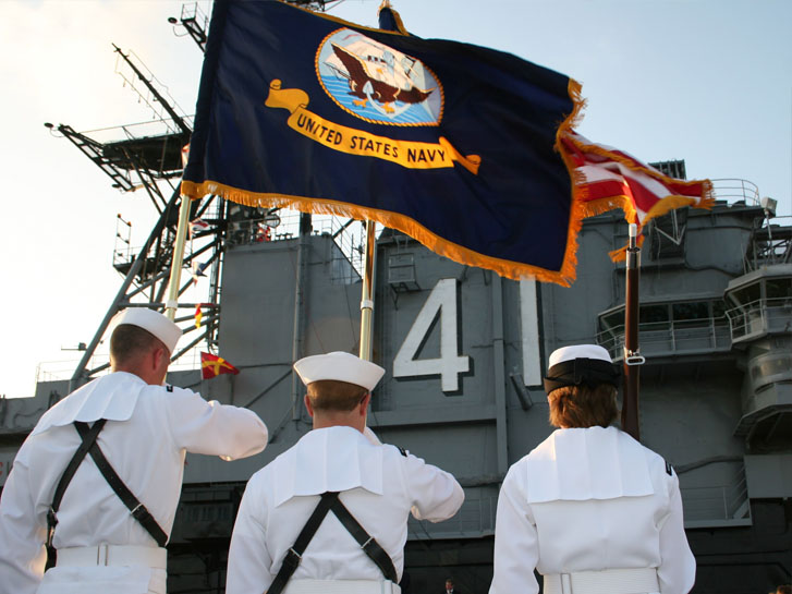 Military Salute on USS Midway