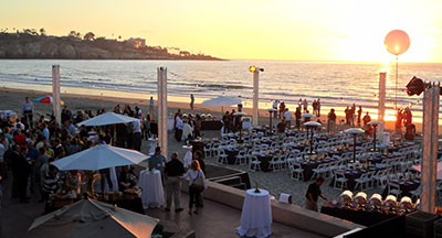 Dinner on the Beach at the La Jolla Beach & Tennis Club