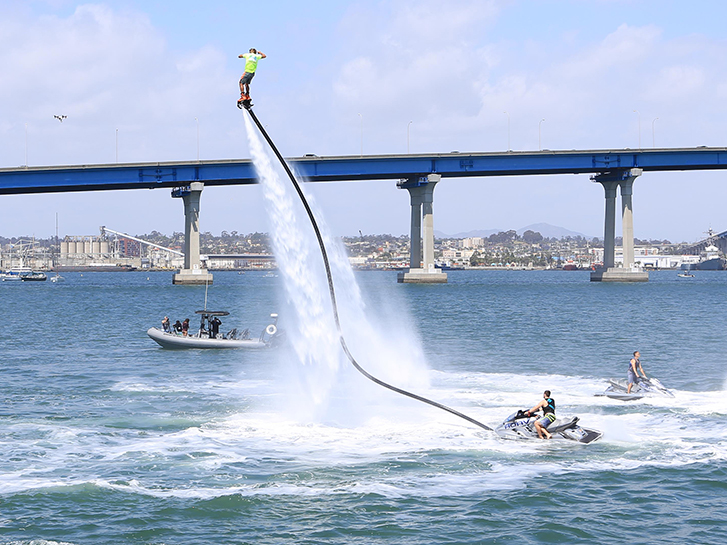 Flyboard or Hoverboard on San Diego Bay
