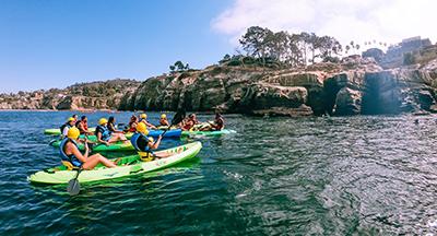 Kayaking at La Jolla Cove