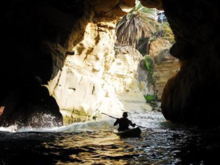Kayaking at the La Jolla Caves