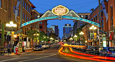Historic Gaslamp Quarter in Downtown San Diego