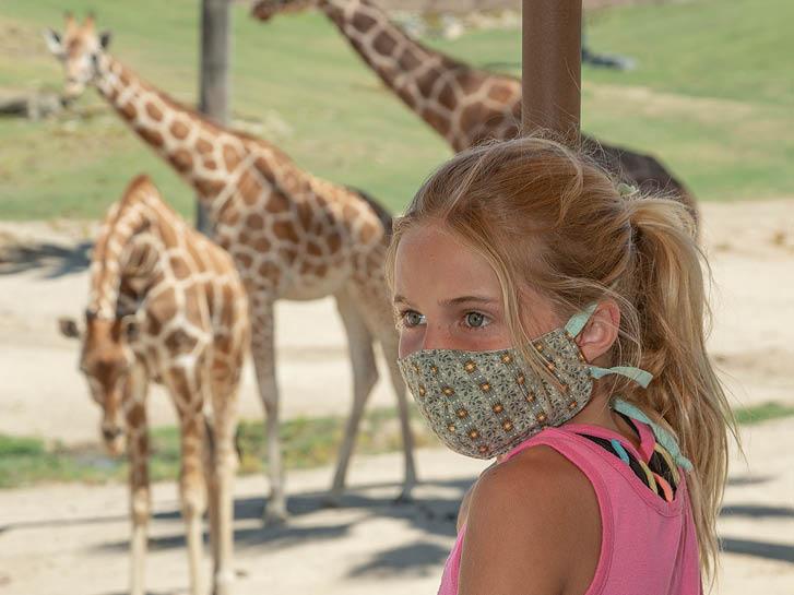 girl at safari park 2021